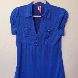 Blue blouse sz L